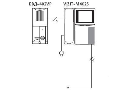 Схема подключения видеодомофона.