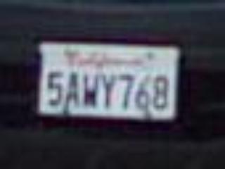 Номер автомобиля с 5-мегапиксельной сетевой камеры